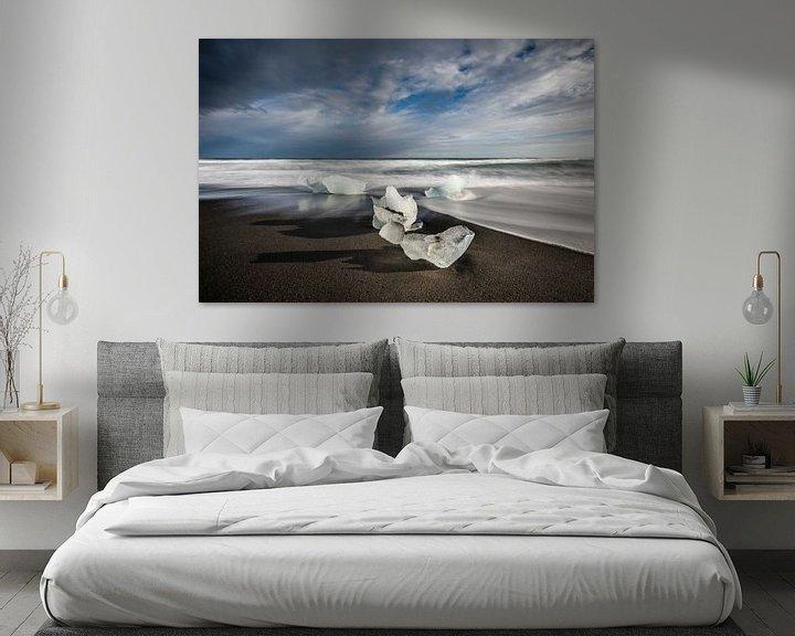 Sfeerimpressie: IJsschotsen op Diamond Beach - IJsland van Erwin Maassen van den Brink