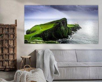 Schotland, Neist Point Lighthouse, Isle of Skye Color explosion van Ivo Bentes