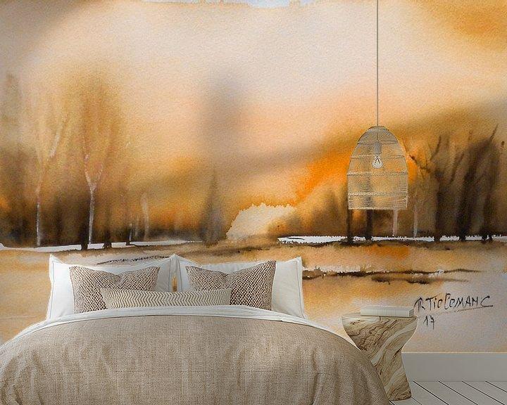 Sfeerimpressie behang: Herfstkleuren van Rita Tielemans