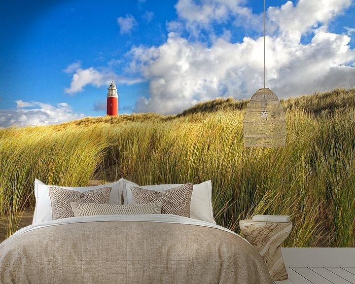 Sfeerimpressie behang: Vuurtoren van Texel / Texel Lighthouse van Justin Sinner Pictures ( Fotograaf op Texel)