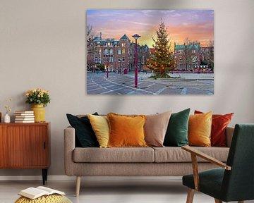 Kerstmis op het Museumplein in Amsterdam Nederland  bij zonsondergang von Nisangha Masselink