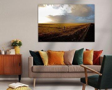 Iceland Landscape with road von Victor Van Rooij