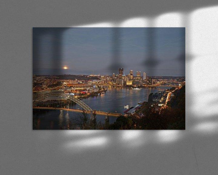 Sfeerimpressie: Pittsburgh - full moon rising van Sander Knopper