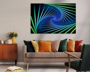 Farbenfrohe Spirale von Tim Abeln