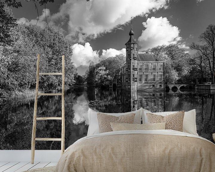 Sfeerimpressie behang: Kasteel Bouvigne Breda in zwart-wit van JPWFoto