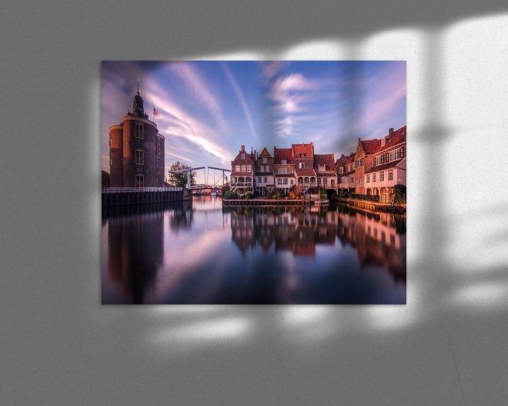 Sfeerimpressie: A harbour in Holland van Niels Tichelaar
