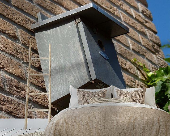 Sfeerimpressie behang: Vogelhuis in de achtertuin van Wilbert Van Veldhuizen