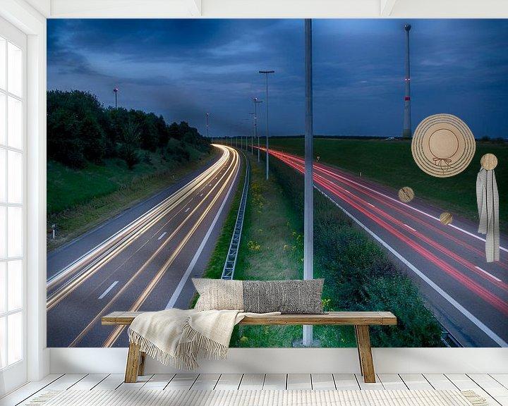 Sfeerimpressie behang: E314 van Filip Boogaerts