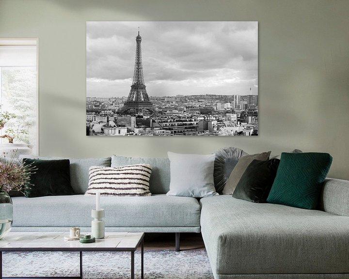 Sfeerimpressie: De Eiffeltoren vanaf de Arc de Triomphe van MS Fotografie   Marc van der Stelt