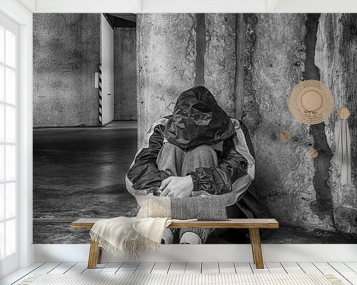 Sfeerimpressie behang: Eenzaam... van Filip Boogaerts