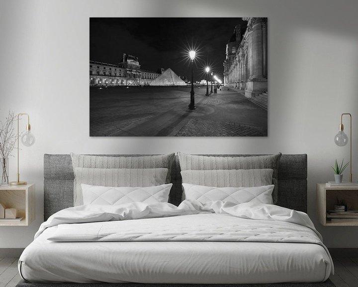 Sfeerimpressie: Het Louvre Museum in Parijs in de nacht van MS Fotografie | Marc van der Stelt