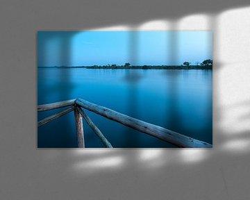 Sunset on the Zambezi River van Martyn Buter