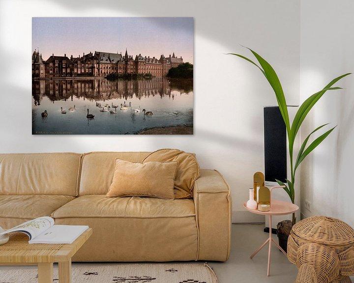 Sfeerimpressie: Hofvijver, Den Haag van Vintage Afbeeldingen