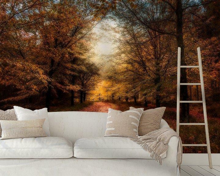 Sfeerimpressie behang: Herfst op de Amerongseberg van Joost Lagerweij