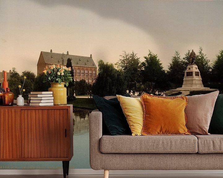 Sfeerimpressie behang: Van der Werfpark, Leiden van Vintage Afbeeldingen