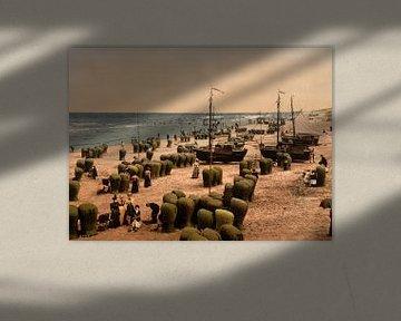 Strand van Scheveningen von Vintage Afbeeldingen
