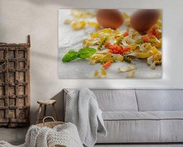 Kleurrijke pasta creatie van Tanja Riedel