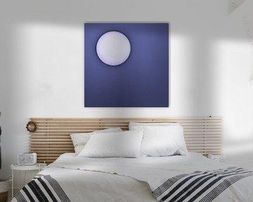 Zon tegen een paarse achtergrond van Art by Jeronimo