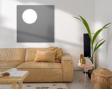 Zon tegen een grijze achtergrond sur Art by Jeronimo