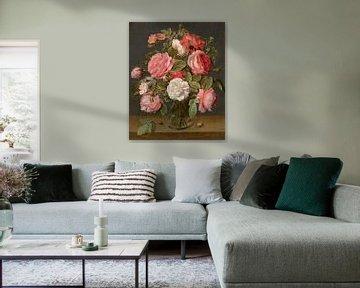 Rosen in einer Glasvase, Jacob van Hulsdonck