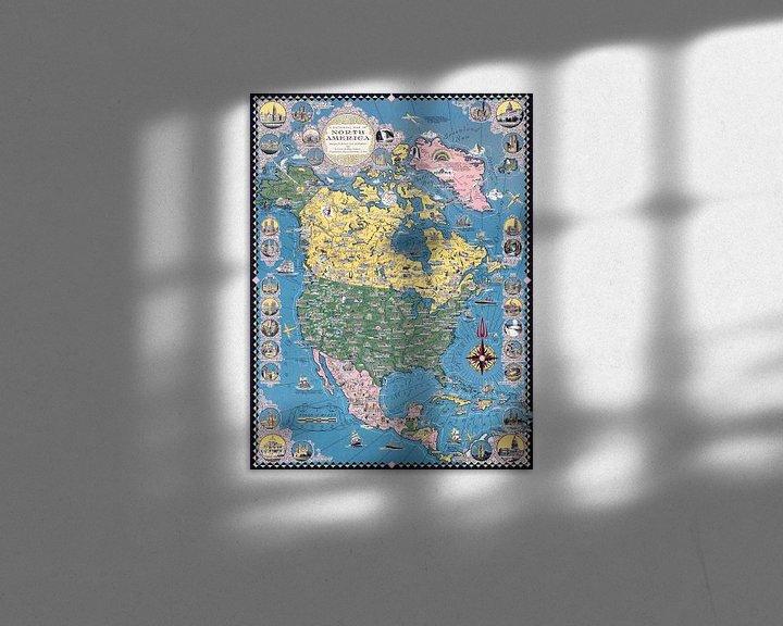 Sfeerimpressie: Historische kaart van Noord-Amerika van World Maps