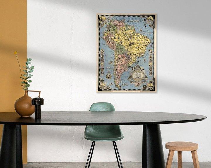 Impression: Carte illustrée de l'Amérique du Sud sur World Maps