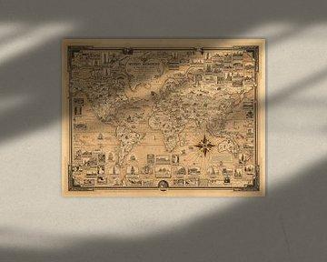 Merveilles du monde, une carte illustrée sur World Maps