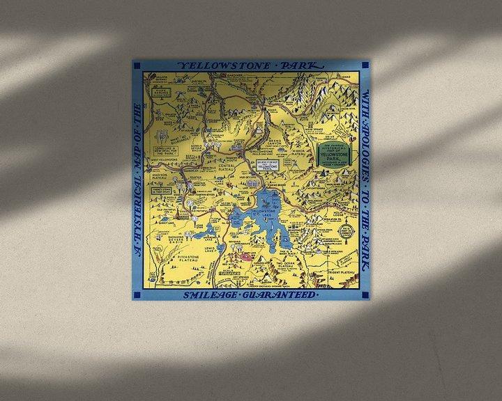 Sfeerimpressie: 'Hysterische' kaart van het Yellowstone Park van World Maps