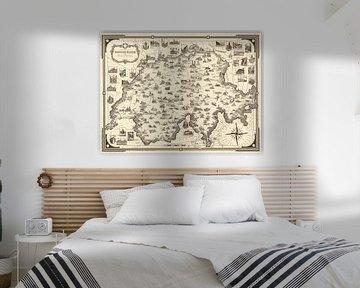 Une carte picturale de la Suisse sur World Maps