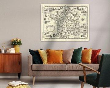 France par Ernest Dudley Chase sur World Maps
