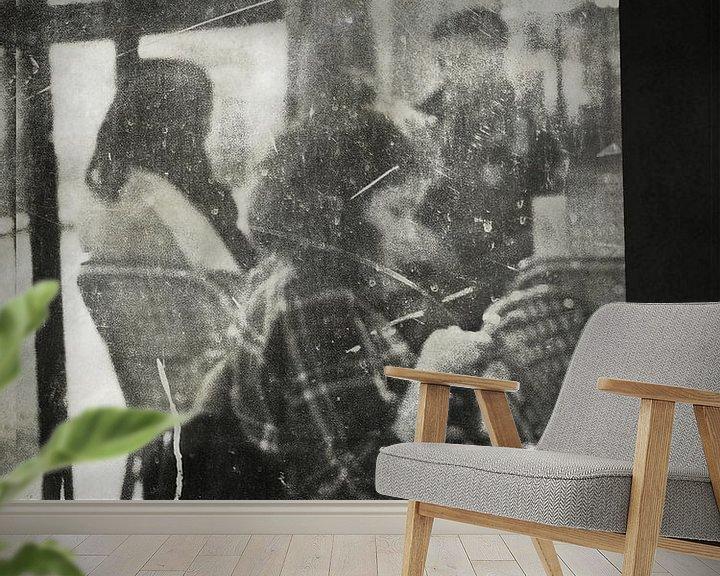 Sfeerimpressie behang: Bistrot parisien van sophie etchart