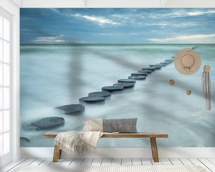 Sfeerimpressie behang: Buhnen in de zee van Tobias Luxberg
