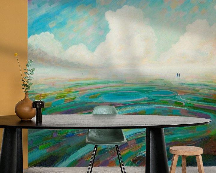 Sfeerimpressie behang: Farbwege van Art Demo