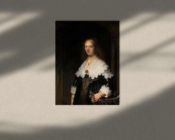 Sfeerimpressie: Portret van een vrouw, mogelijk Maria Trip, Rembrandt