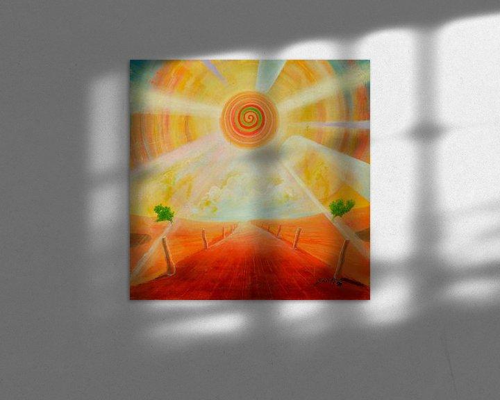 Impression: Spiralsonne sur Art Demo