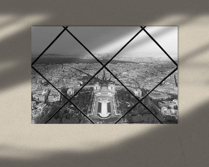 Sfeerimpressie: Het uitzicht op Palais de Chaillot in Parijs van MS Fotografie   Marc van der Stelt