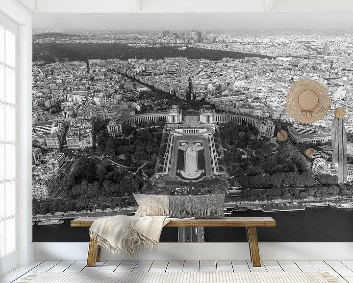 Sfeerimpressie behang: Het uitzicht op Parijs vanuit de Eiffeltoren van MS Fotografie | Marc van der Stelt