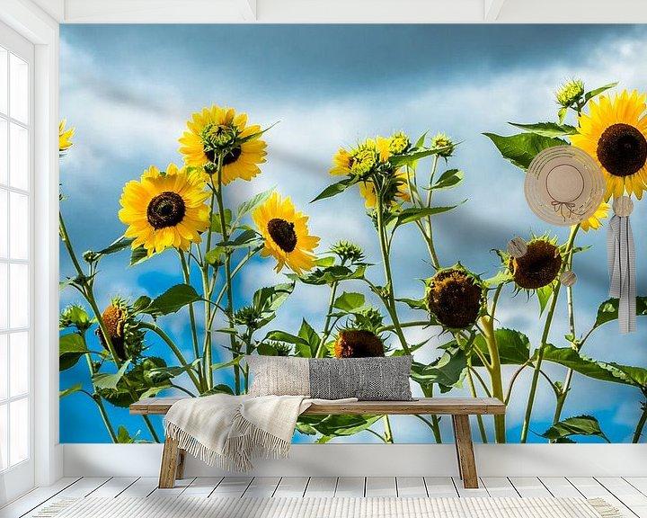 Beispiel fototapete: Sonnenblumen von Holger Debek