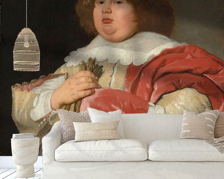 Sfeerimpressie behang: Portret van Gerard Andriesz Bicker, Bartholomeus van der Helst