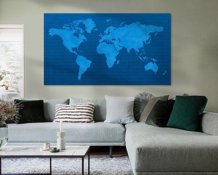 Sfeerimpressie: Blue Digital World van World Maps