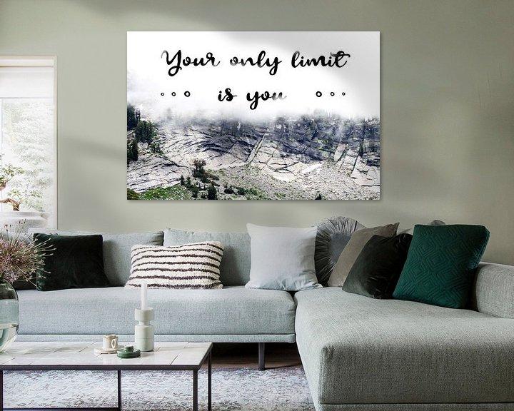 Sfeerimpressie: Your only limit is you | Quote van Claudia Maglio