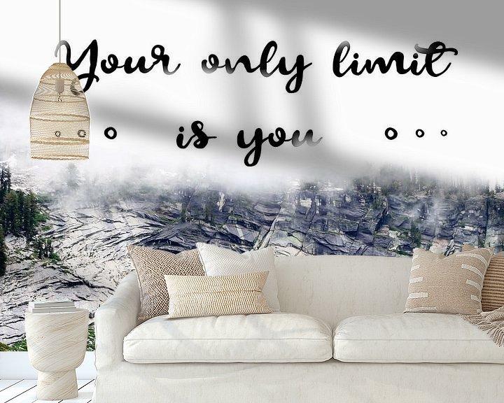 Sfeerimpressie behang: Your only limit is you | Quote van Claudia Maglio