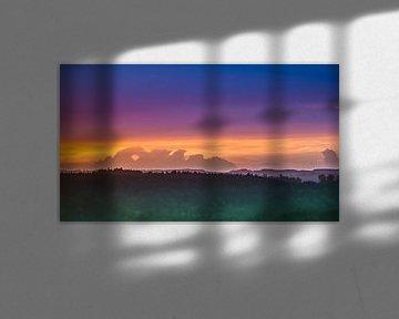 Sonnenuntergang Oberbayern von Holger Debek