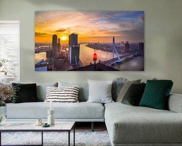 Skyline Rotterdam vanaf de Maastoren von Mart Stevens