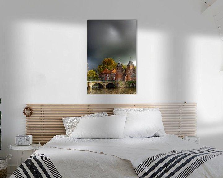 Sfeerimpressie: Koppelpoort historisch Amersfoort van Watze D. de Haan