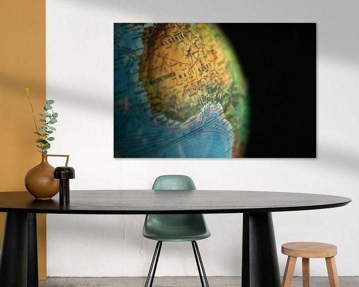 Impression: L'Afrique Mise en évidence sur le Globe sur World Maps