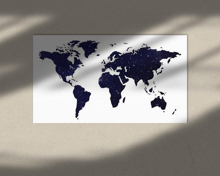 Impression: Carte du monde Galaxy Foncé sur World Maps