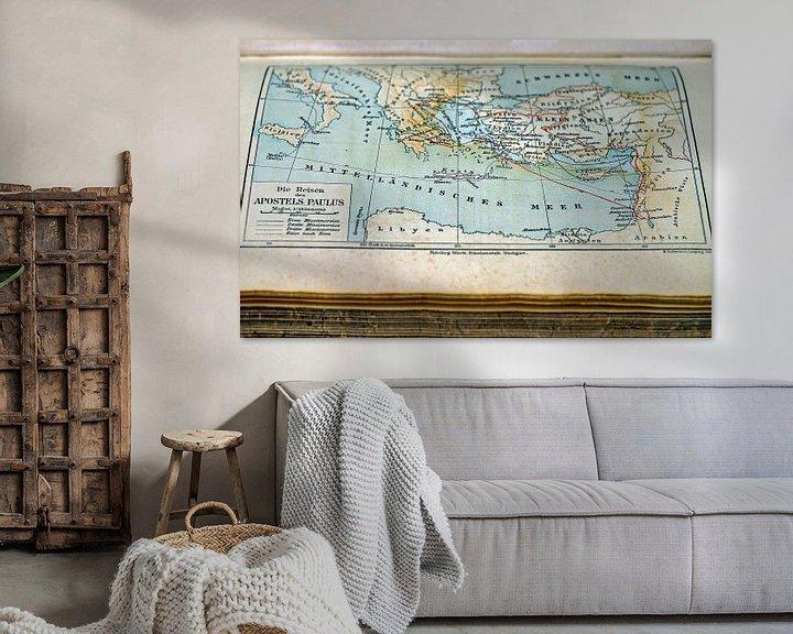 Impression: Ancienne Carte dans le Livre sur World Maps