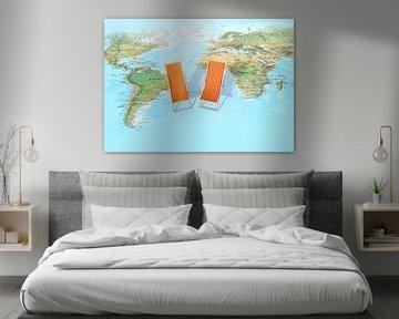 Holiday Wereldkaart van World Maps