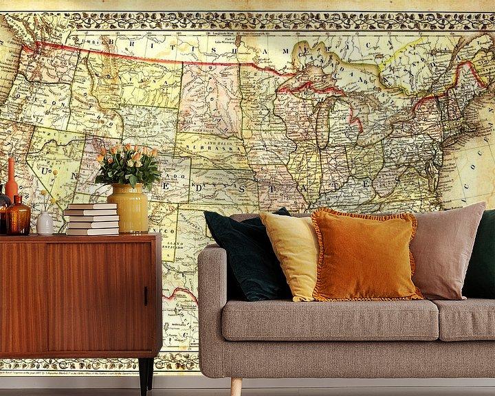 Sfeerimpressie behang: Antieke Wereldkaart van World Maps